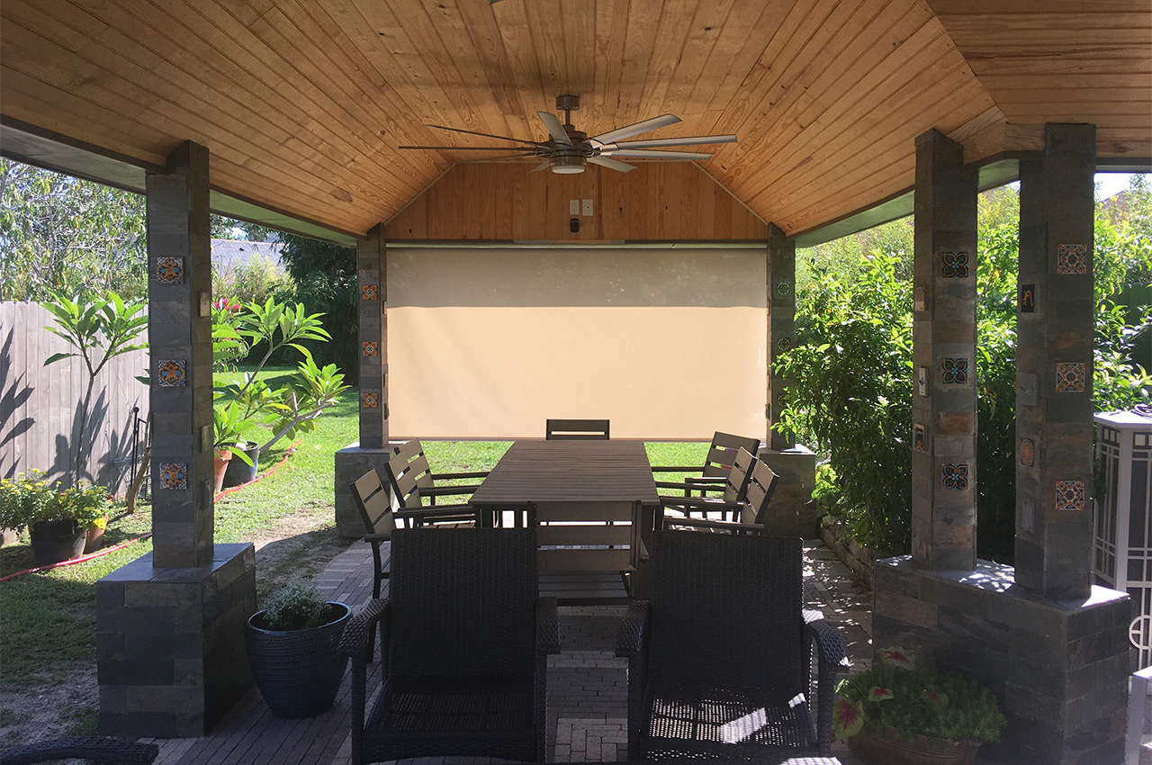 Solar Shade outdoor instillation