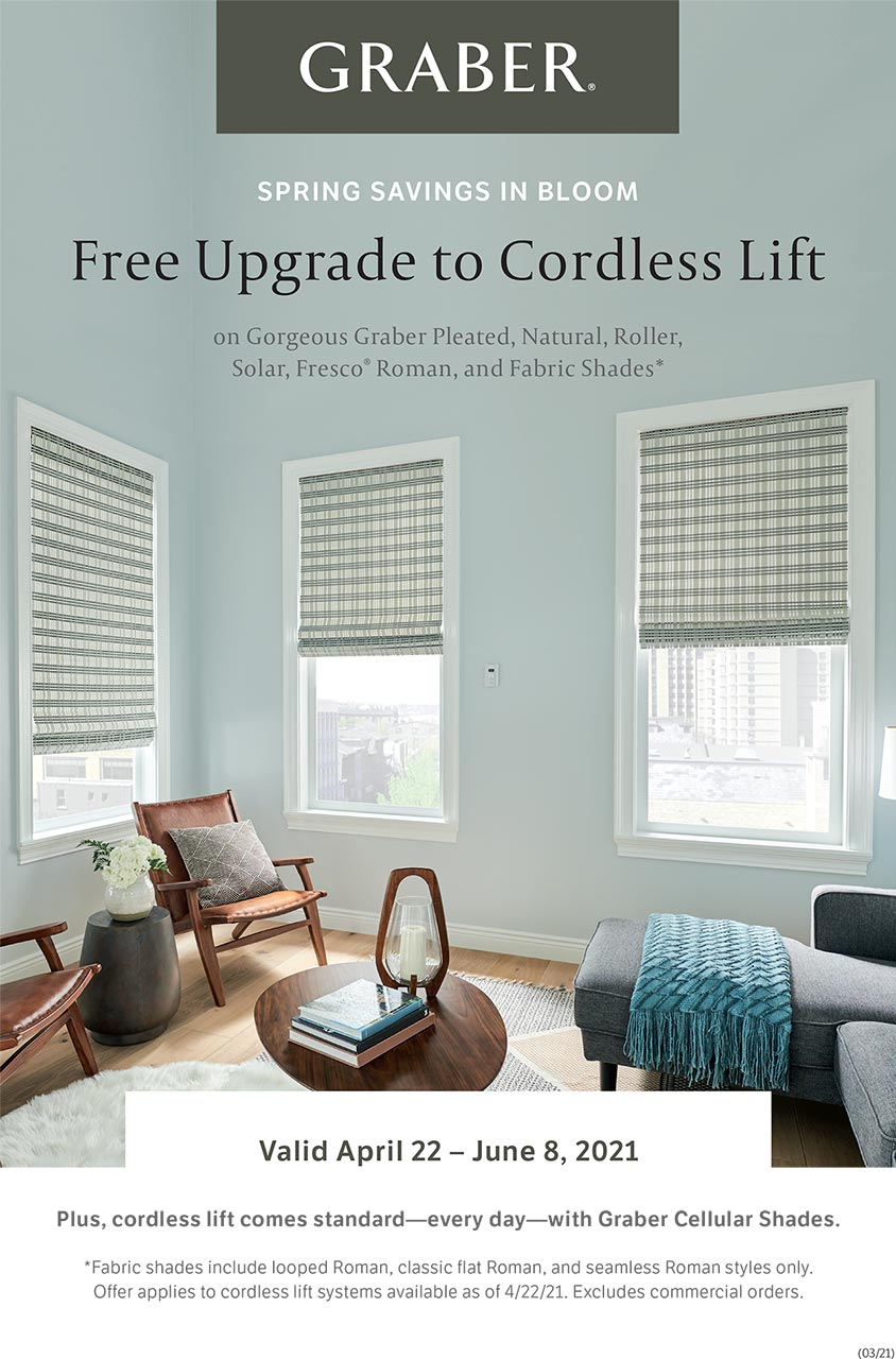Graber Free Upgrade to Cordless Lift Promo 2021