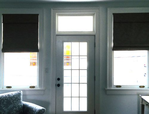 Living Room Roman Shades