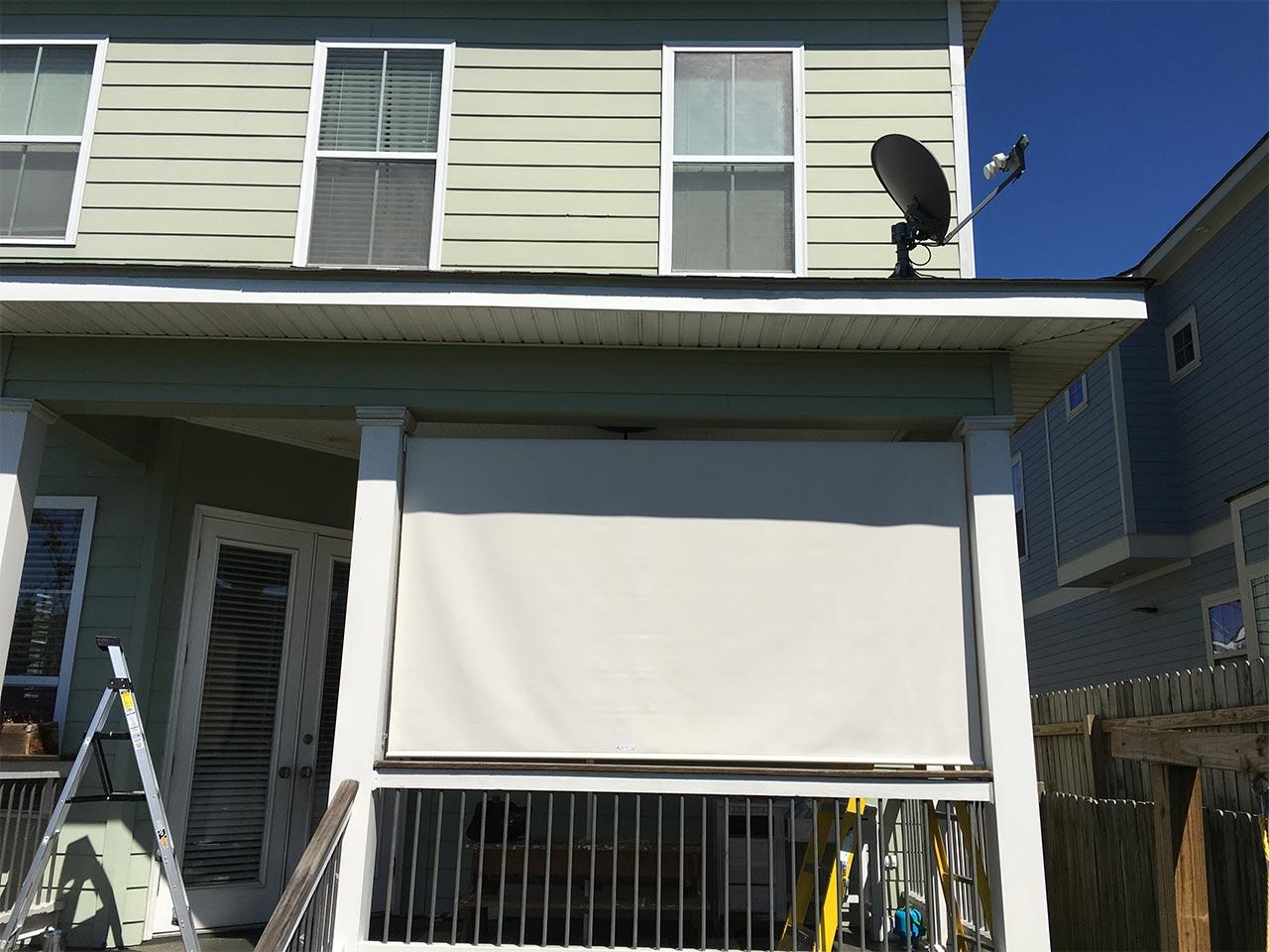 SKANDIA Solar Shades outside