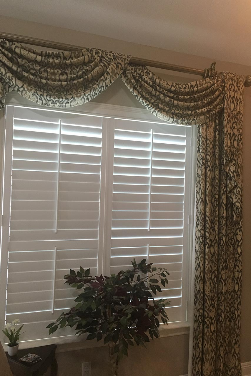 Custom Plantation Shutters and Drapes