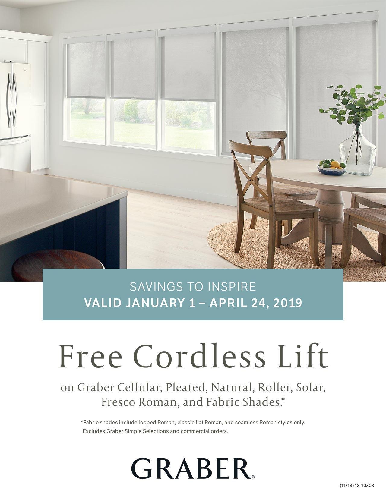 Graber Window Coverings January - April Promos